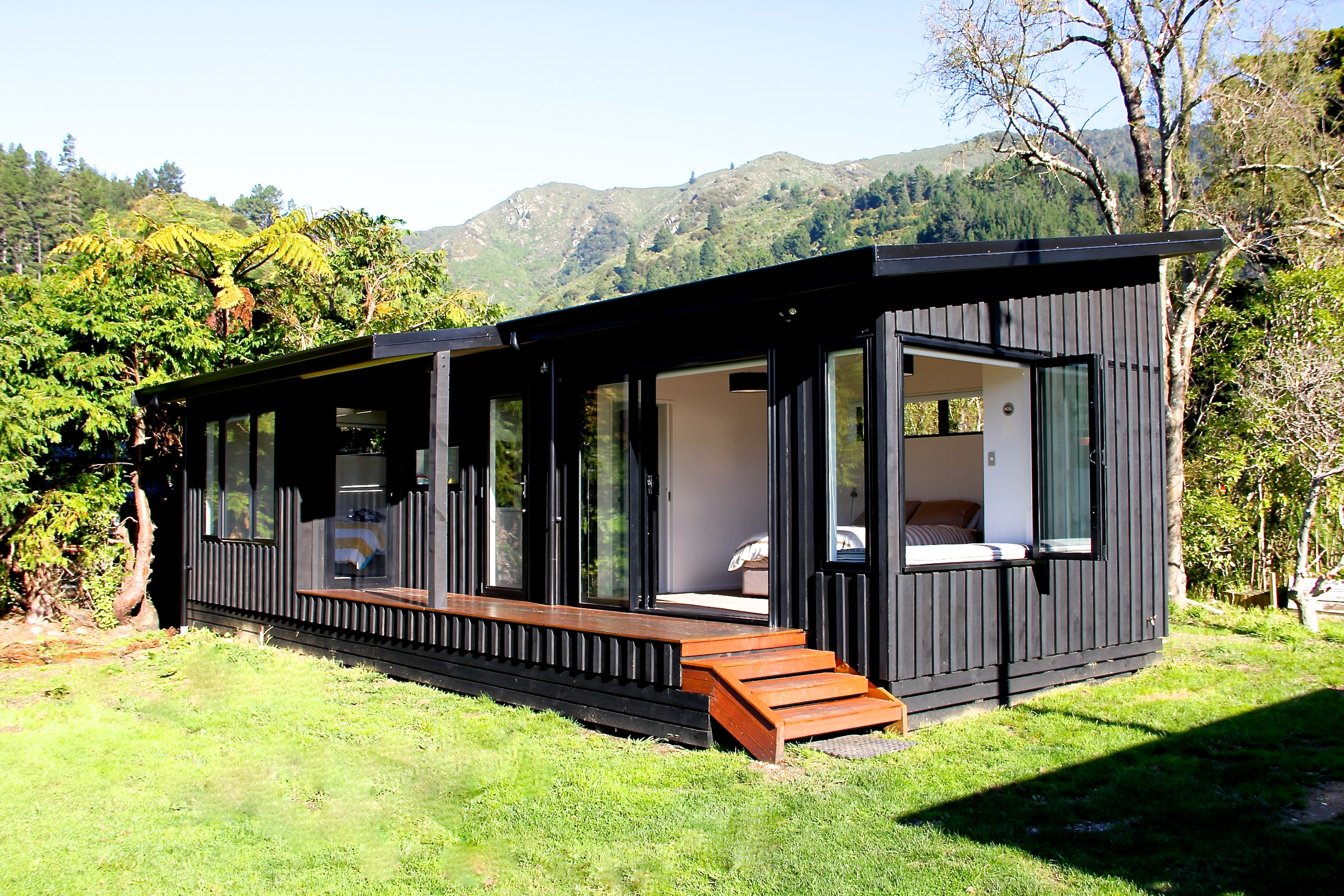 Marlborough sounds bach for Modern new zealand homes